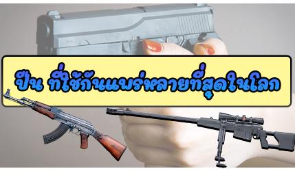 ปืน ที่ใช้กันแพร่หลายที่สุดในโลก